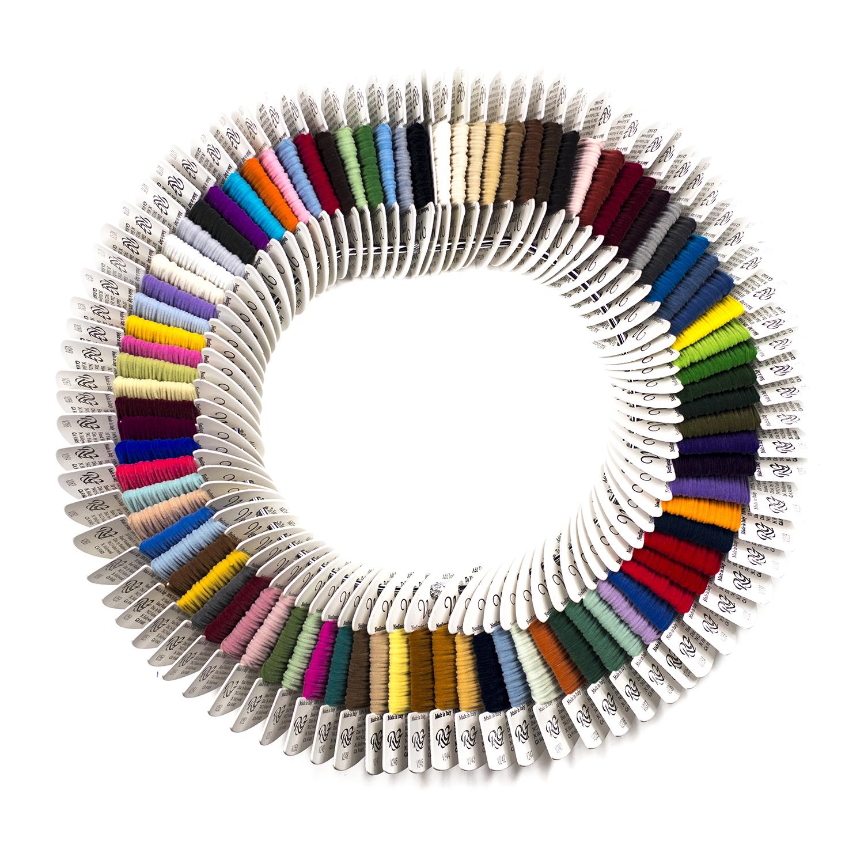 Needlepoint Rainbow Gallery Very Velvet Fiber Thread 2 Cards Embroidery