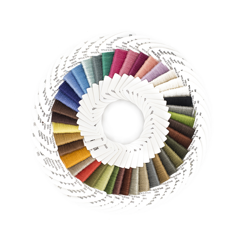 Rainbow Gallery Winter White Metallic Fiber Needlepoint Thread 2 cards